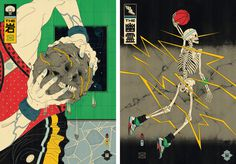http://www.andrewarcher.com/The Rock Ghost #style #japanese #basketball #skeleton