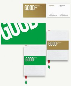 GOOD Brand — Work — AREA 17 #brand #layout #design