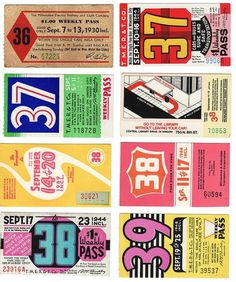 kindra_milwaukee_buspass36_39 | Flickr - Photo Sharing! #print #typography #vintage #lettering #ticket #buss pass