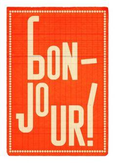 Sara Lindholm #bonjour #poster