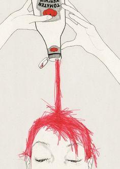 ketchup | Denise van Leeuwen #illustration