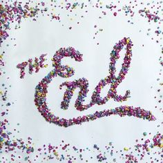 The End #calligraphy #lettering #handlettering #photo #parhelia #30days #photography #confetti