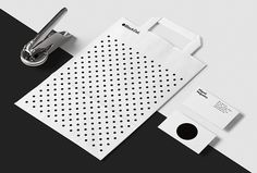 Black Dot. by A&A #graphic design #bag #business card