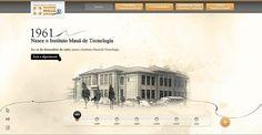 Instituto Mauá de Tecnologia: 50 anos on the Behance Network #website #brazil #retro #vintage