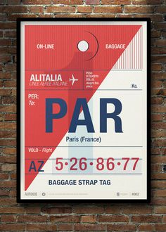 Image of Flight Tag Prints Paris #stevens #neil #illustration #wish #poster #list #typography