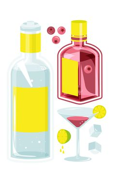 Cocktail illustration. Personal work on studio pik graphic design