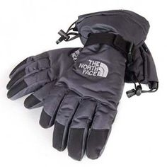 North Face Waterproof Gloves Grey