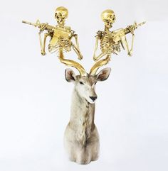 peter-gronquist-1988.jpg (500×512) #taxidermy #deer #photo #boss #gold #magic #skull #awesome
