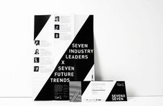 7x7 on Branding Served #branding #identity #black and white #pattern