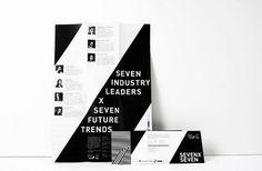 7x7 on Branding Served #branding #identity #black and white #pattern