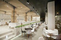 Modern cafe interior #interior #caf #graffiti #modern #archietecture #cafe #architecture