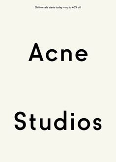 Acne's new typeface by Göran Söderström, Letters From Sweden