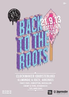 Back to the roots #bass #down #the #back #illustration #poster #roots #low #to