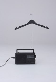 Radio + Coat Hanger : Daniel Eatock #photography