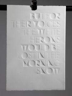 Haiku Eli Kleppe #ink #white #design #experimetal #poster #typography
