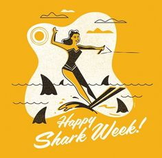 ty mattson shark week #illustration #vintage #texture