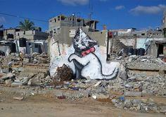 Banksy's powerful work in Gaza #graffiti #art