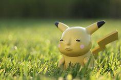 sad pikachu pokemon sculpture