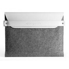 Mujjo iPad Sleeve White - 100% Wool Felt #mujjo ipad sleeve