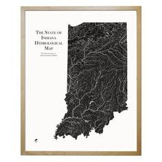 Indiana State Hydrology Map