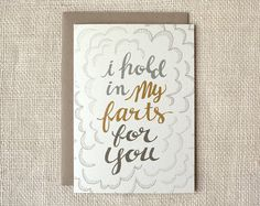 Valentine Card Farts #valentine #fun #etsy #typography
