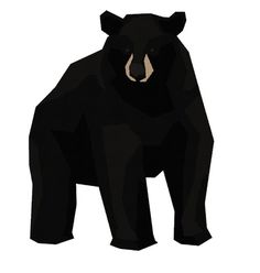 Mr Black Bear #vector #black #illustration #gif #bear #animal