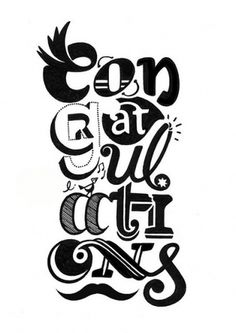 Congrat's sampler | Flickr - Photo Sharing! #type #lettering #typography