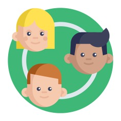 See more icon inspiration related to group, teamwork, team, networking, business and people on Flaticon.