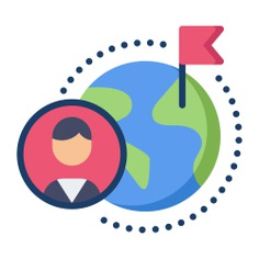 See more icon inspiration related to global, flag, user, maps and location, miscellaneous, earth globe, earth grid, globe grid, planet earth, geography and flags on Flaticon.