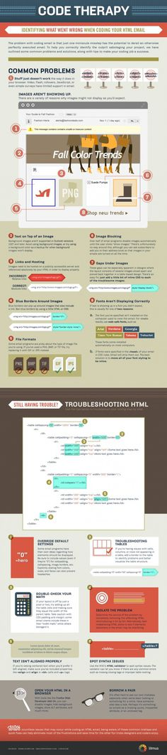 Code Therapy: Troubleshooting HTML Email #infographic #code #email