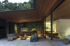 kitchen and dining room - Beach House on the Coast of São Paulo