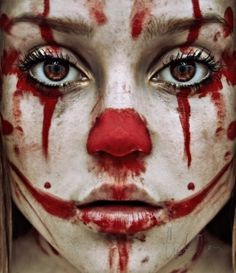 Piccsy :: trauma. #clown #sad #up #make