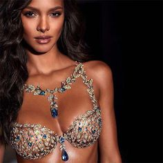 Lais Ribeiro wearing Champagne Nights Fantasy Bra