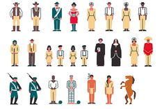 Archétype is a card game for inventing your own stories. Each card represent a typical character from different fictionnal universe (mediev #pictogram #icon #people #human #isotype