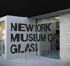 New York Museum of Glass #typography #branding #lettering #glass #warped #signage