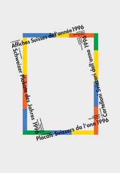 Rosmarie Tissi — Swiss Posters of the Year, exhibition poster (1996) #design #typography #poster