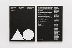 Flyer/invite #invite #frame #white #agi #invitation #flyer #design #graphic #type #black #triangle #poster #open #circle #modernist #typography