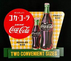 58 Vintage Ads Featuring the Coca-Cola Bottle: The Coca-Cola Company #coke #cardboard #bottle #coca-cola #classic #retro #glass #vintage #ad #cutout #typography