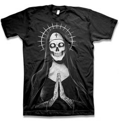bleedingnose design: graphic design, illustration | Gallery #black #shirt #nun #sinner #skull