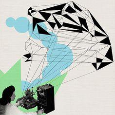 """REFLEX"" © ceren kilic 2012 #kilic #ceren #print #illustration #vintage #art #ar"