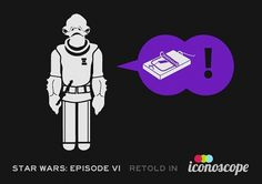 I should really get out more.: Star Wars Episode VI Retold in Iconoscope #icons #wars #star #minimalistic