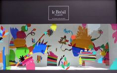 Bon Marche Brazil visual merchandising by Pedro Varela Paris #colour
