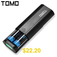 TOMO #V8 #- #2 #18650 #Battery #Charger #- #BLACK