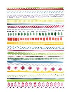 flora fricker art #flora #pattern #firicker #aztec #colour