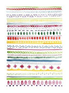 flora fricker art #flora #pattern #firicker #aztec #colour