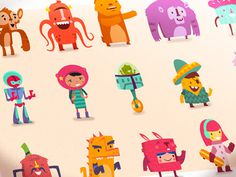 Hopscotchcharacters_sounas #illustration #character design