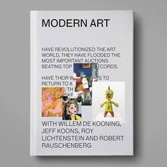 MODERN ART BOOK 📚📑📖 #modern #art🎨 #modernart #dekooning #roylichtenstein #robertrauschenberg #jeffkoons #book #editorial #brandu