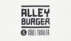 sleepop_alleyburger_logo #alley #drawn #hand #burger