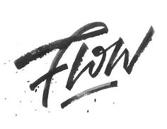 Typeverything.com Flow by Max Pirsky. #brush