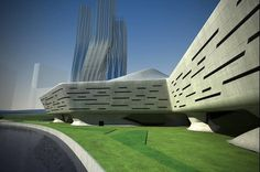 Dubai Financial Market - Architecture - Zaha Hadid Architects #dubai #hadid #architects #zaha #architecture